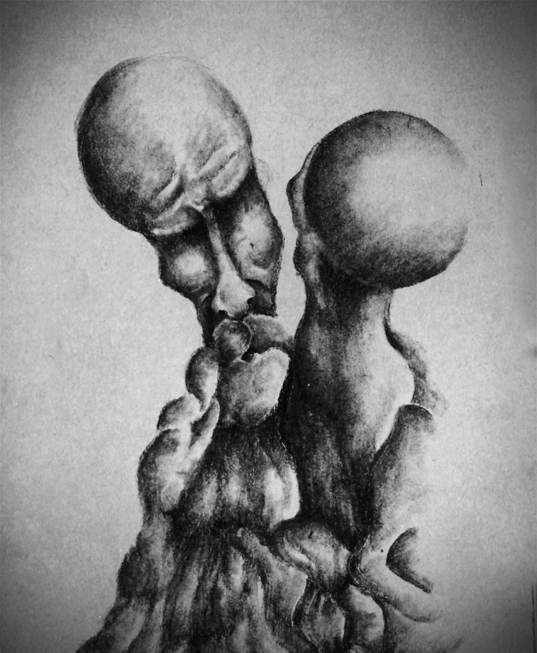 charcoal drawing for power that we can take from each other in hard times